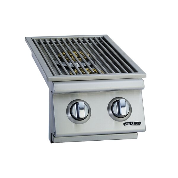 Slide-In Natural Gas Double Side Burner by Bull Ou