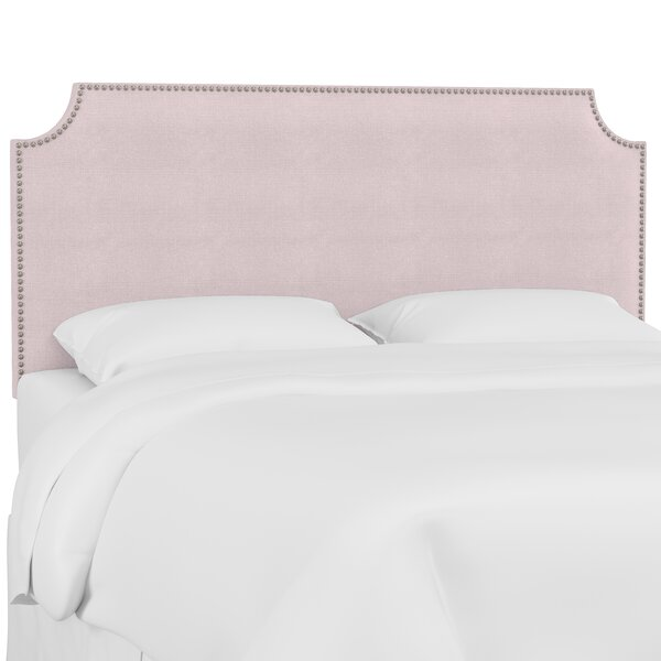 Doleman Nail Button Solid Wood Upholstered Panel Headboard by Willa Arlo Interiors