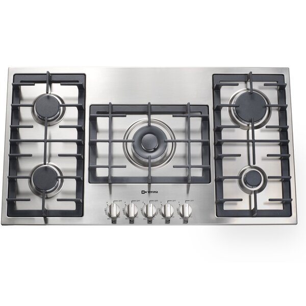 Designer Series 36 Gas Cooktop with 5 Burners by Verona