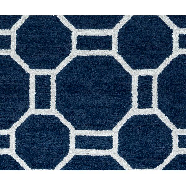 Evangeline Hand-Tufted Indigo Indoor/Outdoor Area Rug by Ebern Designs