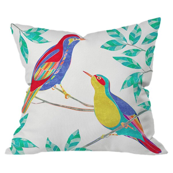 Songbirds 2 Outdoor Throw Pillow by Deny Designs