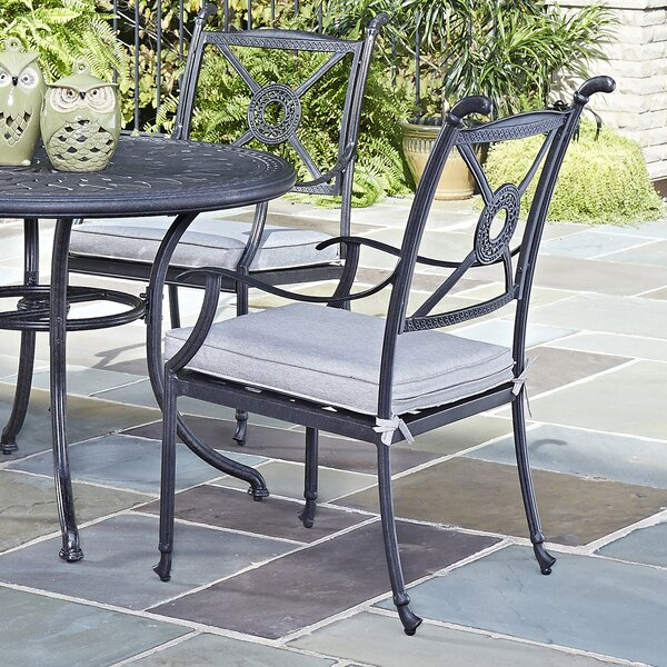 Lansdale Patio Dining Chair with Cushion (Set of 2) by Darby Home Co