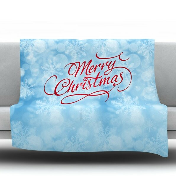 Merry Christmas by Snap Studio Fleece Throw Blanket by KESS InHouse
