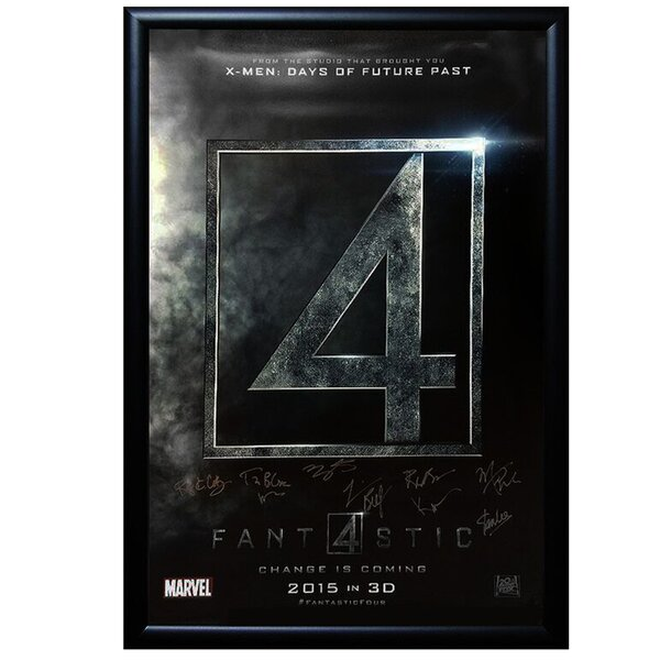 Fantastic Four  Framed Autographed Movie Poster Framed Wall Art by LuxeWest