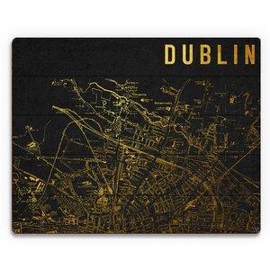 'Dark Dublin' Graphic Art Plaque by Click Wall Art