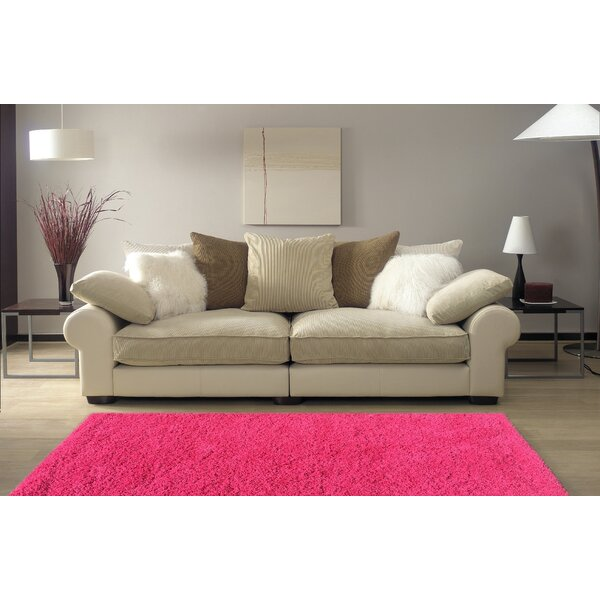 Armina Shag Square Pink Area Rug by Ebern Designs