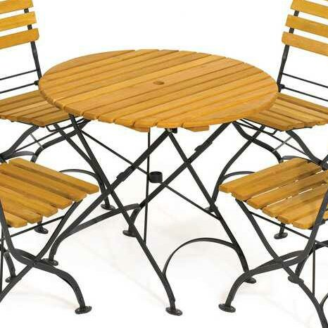 Dowe Folding Round Table by August Grove