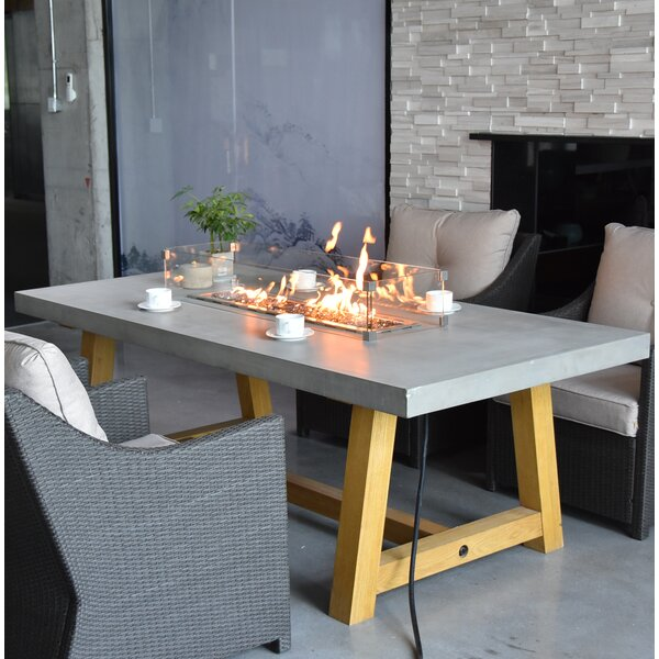 Workshop Concrete Gas Pit Table by Elementi