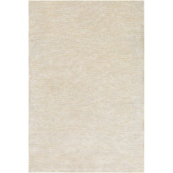 Alverez Hand-Woven Khaki/Gray Area Rug by Langley Street