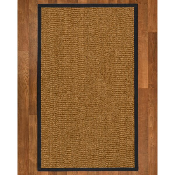 Asmund Border Hand-Woven Brown/Midnight Blue Area Rug by Bayou Breeze