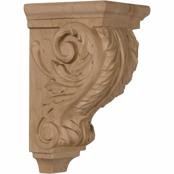 Acanthus 7H x 3 1/2W x 4D Small Wood Corbel in Alder by Ekena Millwork