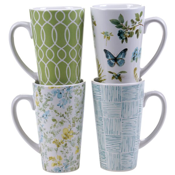 Greenhouse 4 Piece Latte Mug Set by Certified International