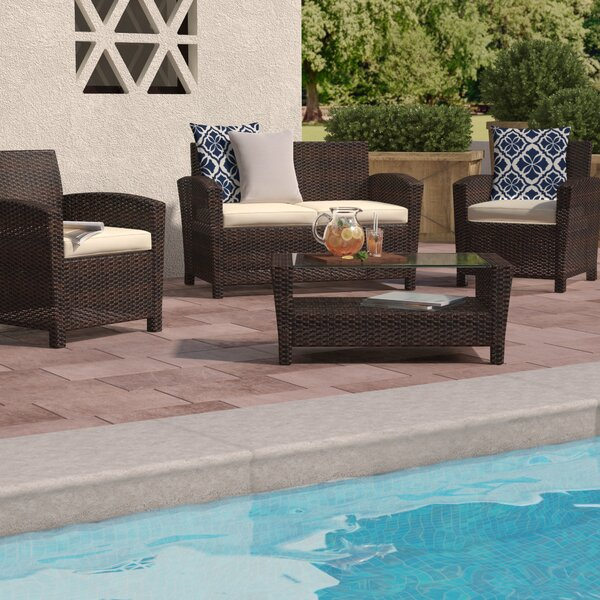 Stickles 4 Piece Sofa Seating Group with Cushions by Charlton Home