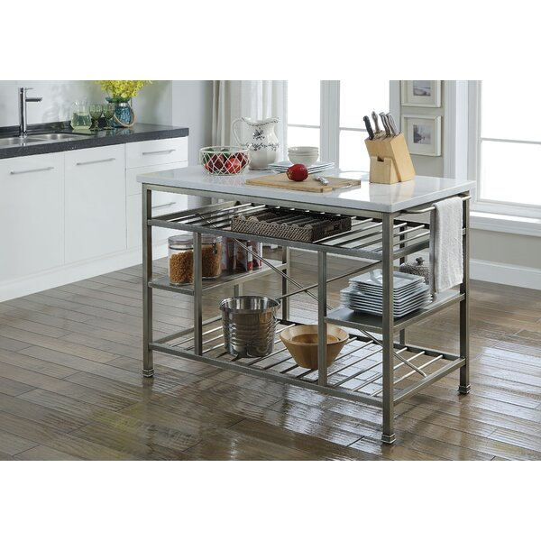Deen Marble Kitchen Island by Darby Home Co