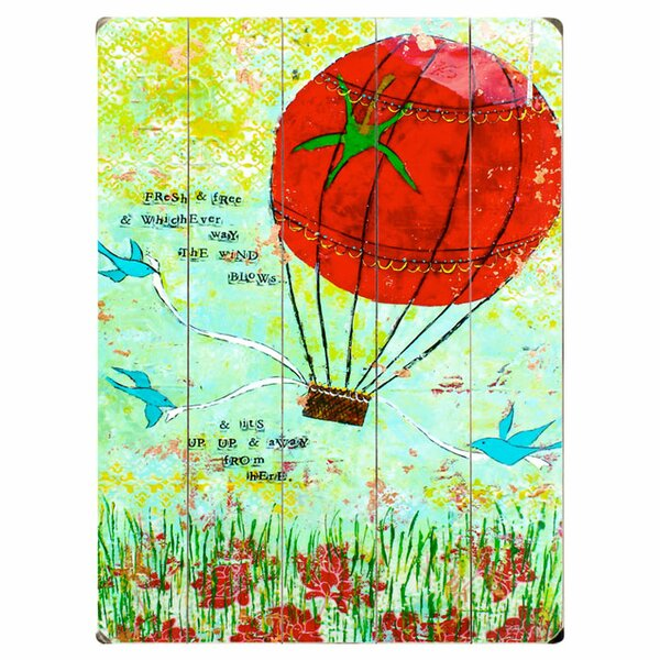 Hot Air Balloon Graphic Art Multi-Piece Image on Wood by Artehouse LLC