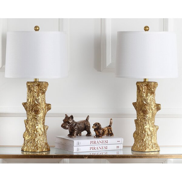 Arcadia Fauz Bois 28.5 Table Lamp (Set of 2) by Safavieh