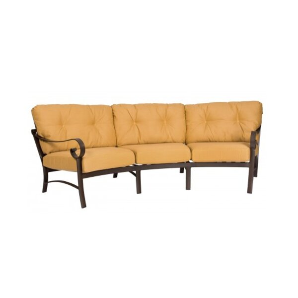 Belden Crescent Patio Sofa with Cushions by Woodard