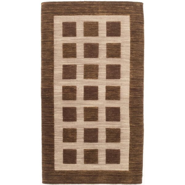 Bria Hand-Knotted Beige/Brown Area Rug by Latitude Run