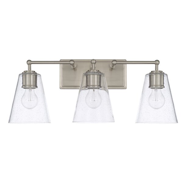 Gallego 3-Light Glass Shade Vanity Light by Three Posts