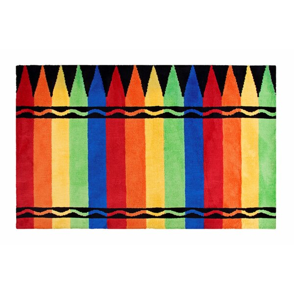 Crayon Box Red/Green Area Rug by Crayola LLC