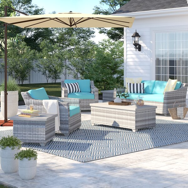 Falmouth 7 Piece Rattan Sectional Seating Group with Cushions by Sol 72 Outdoor