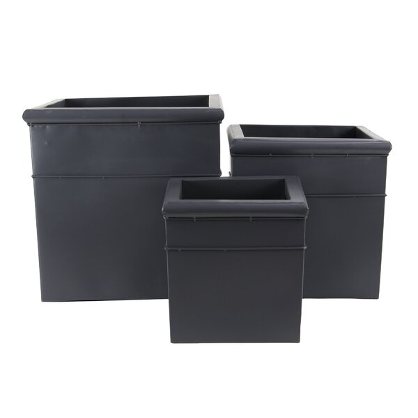 Elam Modern 3-Piece Metal Planter Box Set by Latitude Run