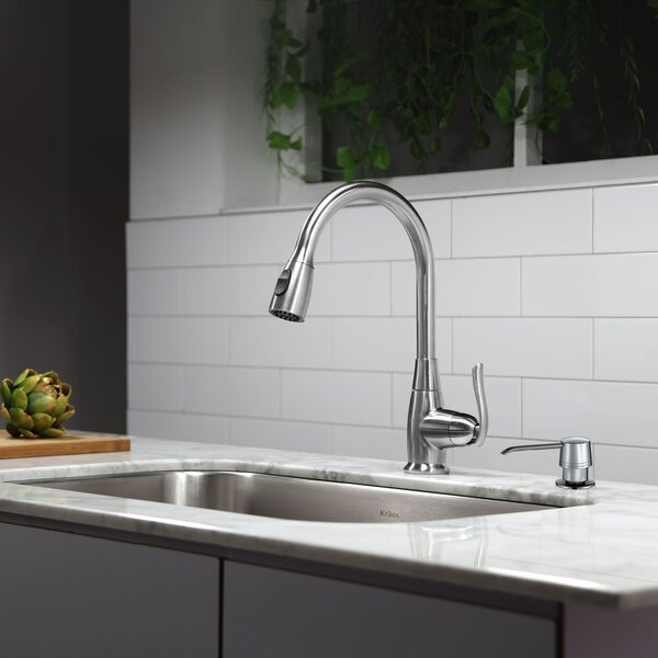 Kitchen Combos 31.5 L x 18.38 W Undermount Kitchen Sink with Faucet and Soap Dispenser