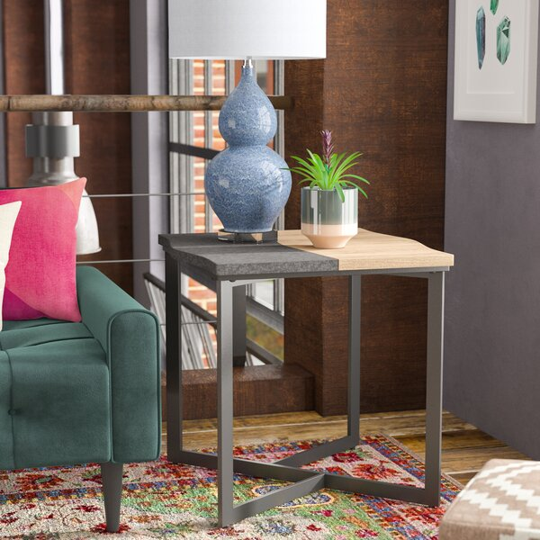 Borrero End Table by Wrought Studio
