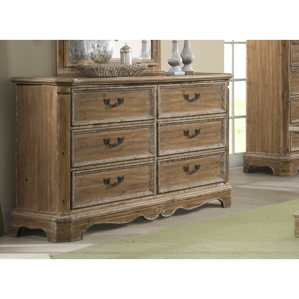 Elena 6 Drawer Double Dresser By Ophelia & Co. Great price