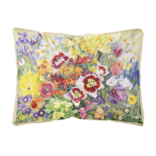 Ruck Spring Floral by Anne Searle Fabric Indoor/Outdoor Throw Pillow by Winston Porter