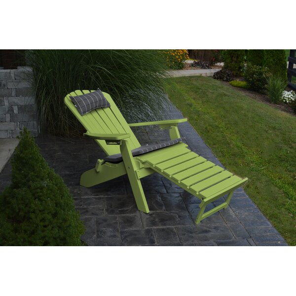 Plastic Folding Adirondack Chair with Ottoman by A&L Furniture