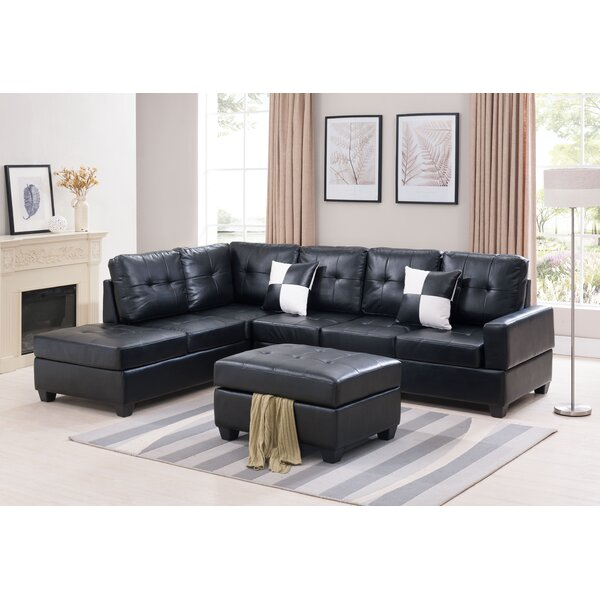 Review Lafleur Left Hand Facing Sectional With Ottoman