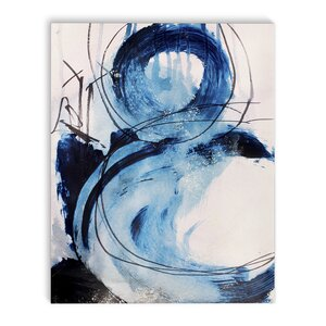 'Blue Abstract' Framed Print on Canvas by Latitude Run
