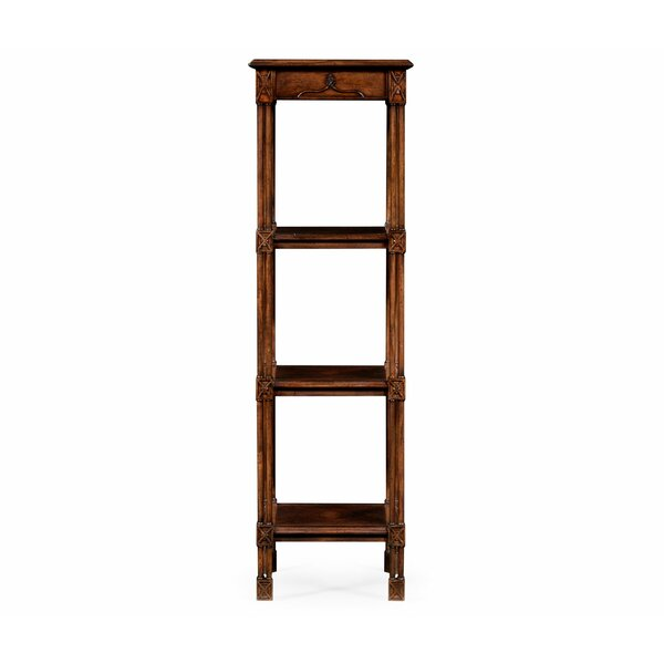 Tribeca Chippendale Gothic Four-Tier Etagere Bookcase By Jonathan Charles Fine Furniture