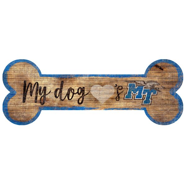 NCAA Dog Bone Sign Wall Décor by Fan Creations