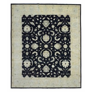 Look for One-of-a-Kind Noi Peshawar Large Hand-Woven Wool Black Area Rug By Isabelline