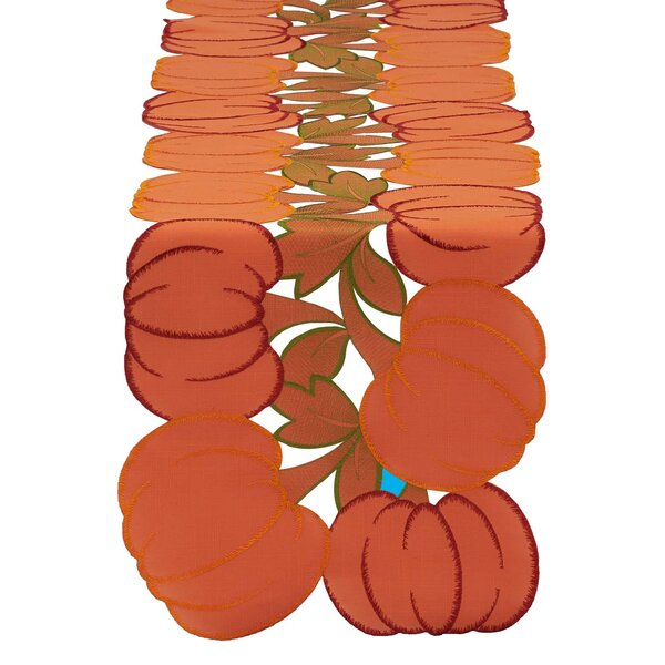 Pumpkins Embroidered Table Runner by Design Imports