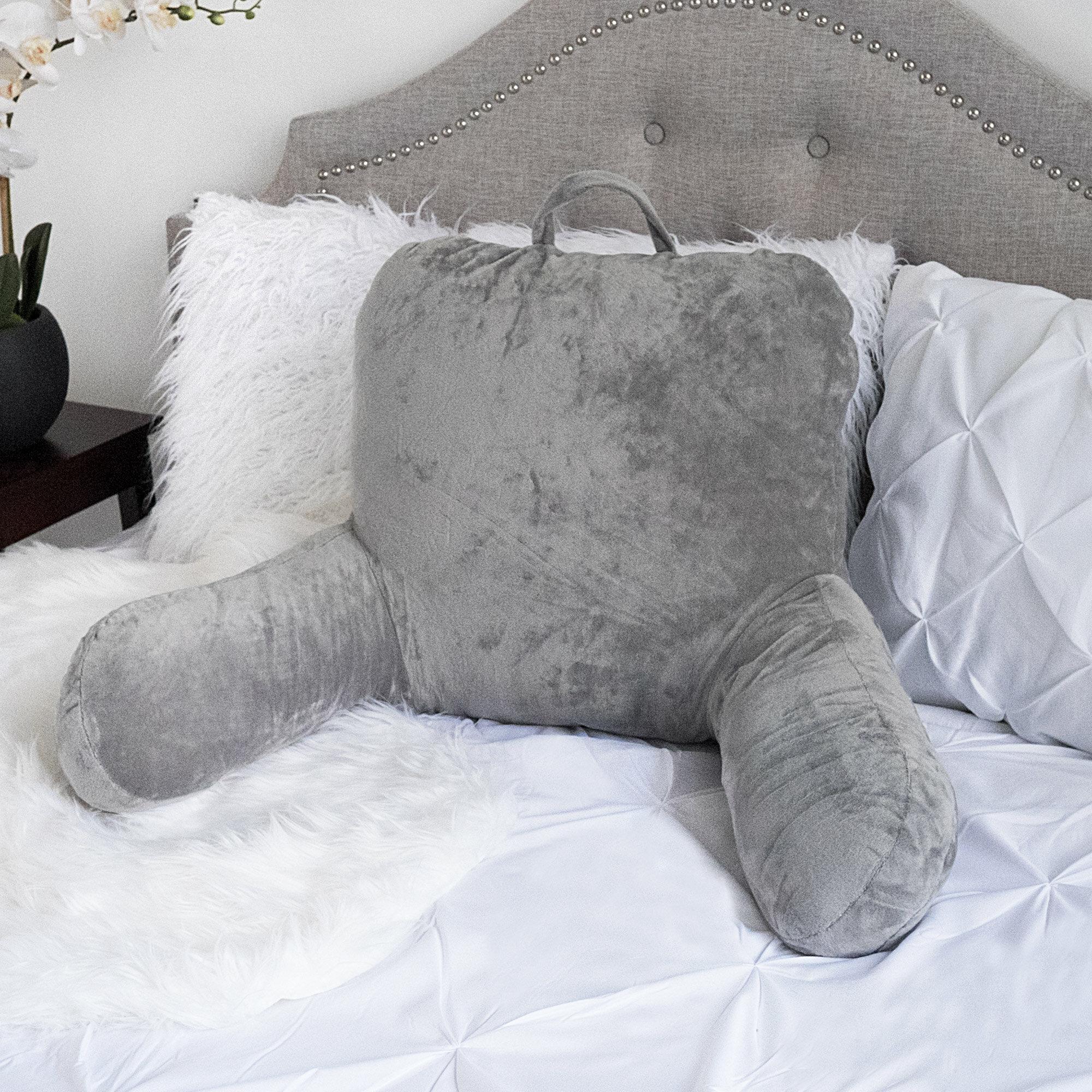 Fabulous Latitude Run Saulsbury Plush Bed Backrest Pillow Reviews Frankydiablos Diy Chair Ideas Frankydiabloscom