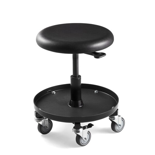 Bevco Height Adjustable Stool with Rubber Wheel Casters by BEVCO
