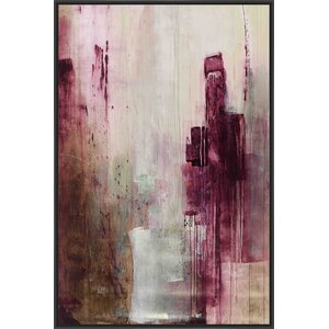Plum Wine Framed Painting Print on Canvas by PTM Images