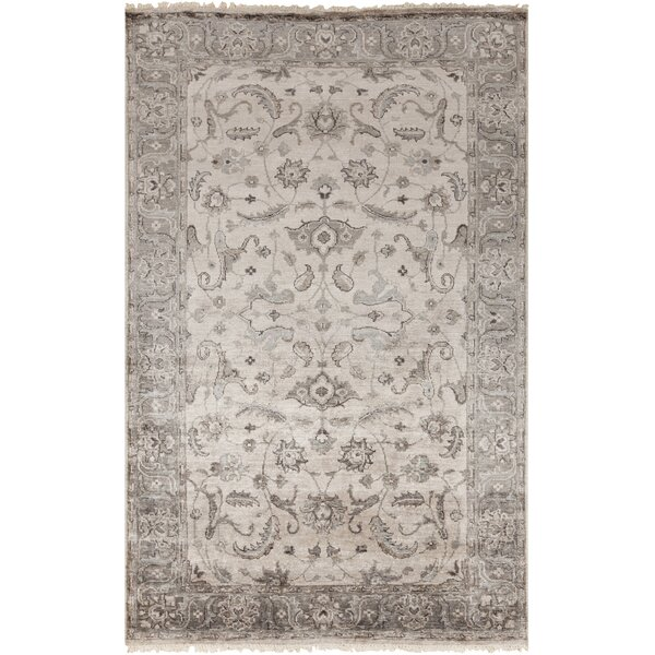 Gullette Hand Knotted Gray Area Rug by Darby Home Co