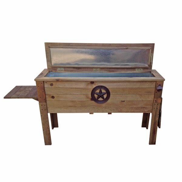 87 Qt. Decorative Outdoor Wooden Cooler by Backyar