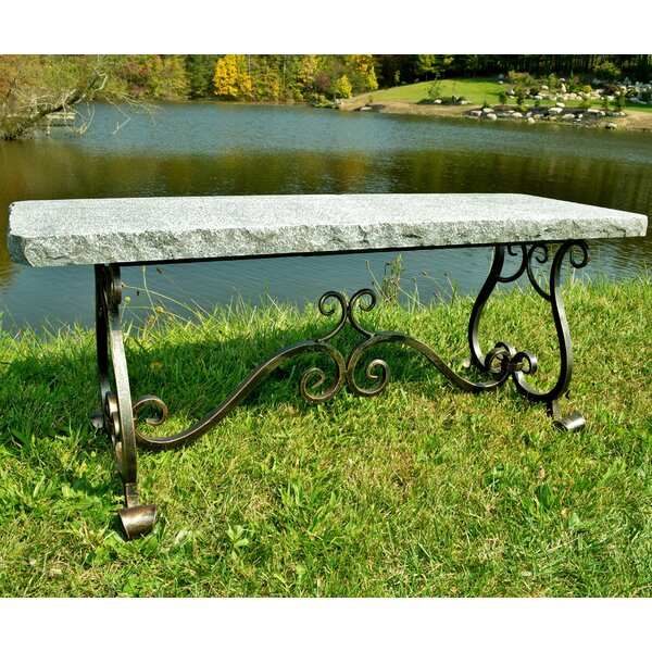 Melody Granite Park Bench by Stone Age Creations Stone Age Creations