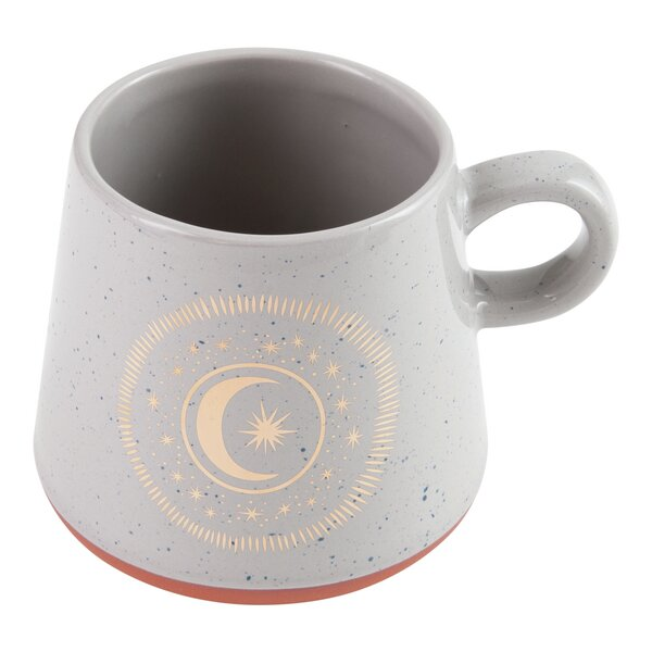 Oversize Speckled Mug with Moon Design by Plum and Punch