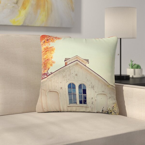 Angie Turner Fall Barn Top Photgraphy Outdoor Throw Pillow by East Urban Home