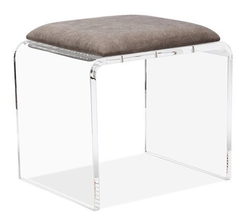 Mira Acrylic Vanity Stool by Interlude