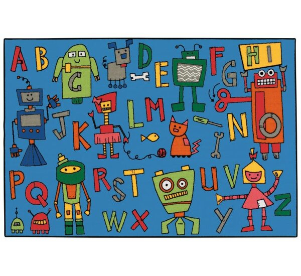 Reading Robots Kids Rug by Kids Value Rugs