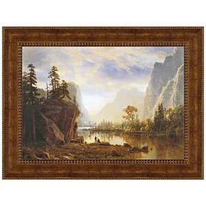 Yosemite Valley, 1863 by Albert Bierstadt Framed Painting Print by Design Toscano