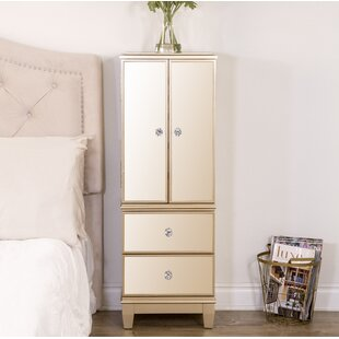 Berges Free Standing Jewelry Armoire with Mirror by House of Hampton