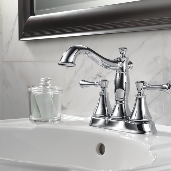Cassidy Centerset Bathroom Faucet with Metal Pop-Up by Delta